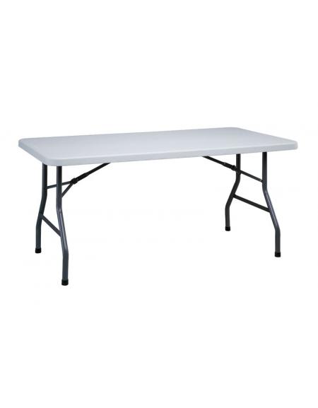 Tavoli Pieghevoli Plastica Per Catering.Tavolo Catering Rettangolare Pieghevole In Polietilene Cm 152x76