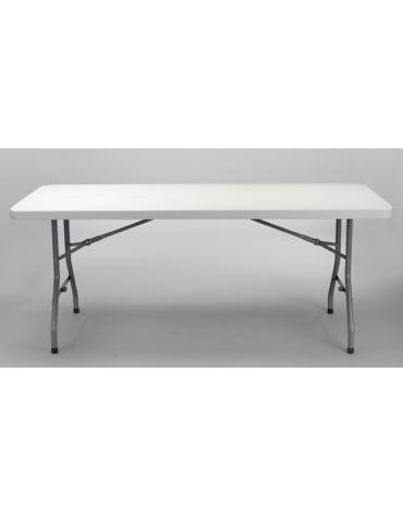 Tavolo catering rettangolare pieghevole in polietilene cm 198x90