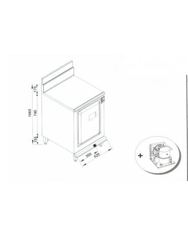 Retrobanco refrigerato da cm. 62