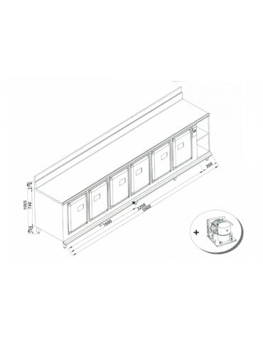 Retrobanco refrigerato da cm. 350