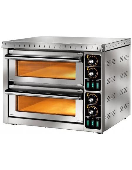 Forno elettrico per pizza camera doppia con vetro da cm 41x36x9h camere di cottura forni per - Forno elettrico per pizze ...