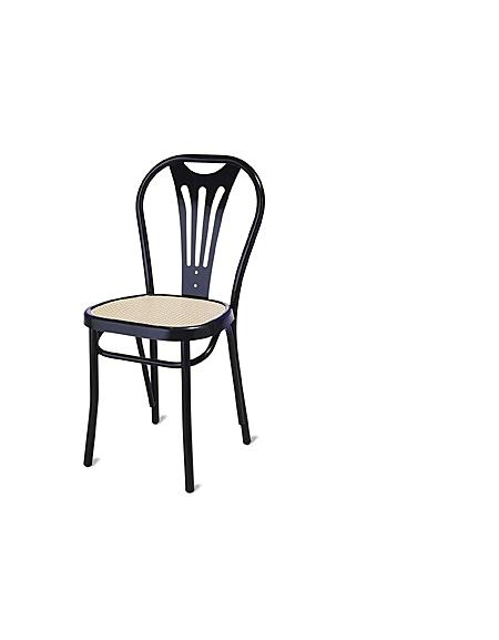 Sedia Bistrot Nera Sedile Ovale Paglia Sedie E Tavoli