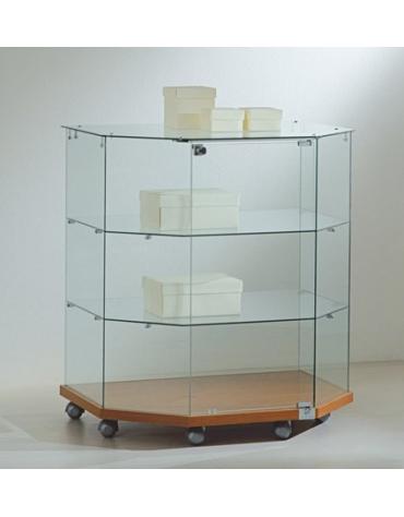 Banco vetrina trapeziodale basso cm 80x60/40x90h