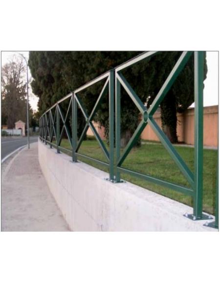 Barriere Arredo Urbano.Barriera Standard Zincata E Verniciata Lunghezza Cm 150 Da Inghisare