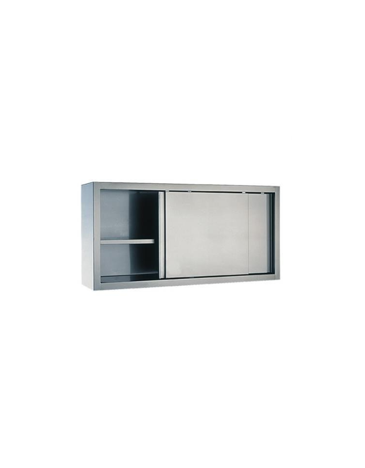 Armadio Inox Ante Scorrevoli.Armadio Pensile Inox Con Ante Scorrevoli Per Ristorante Dimensioni Cm 170x40x60h