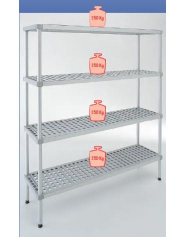 Scaffale per cella frigorifera o magazzino cm 120x30x180h