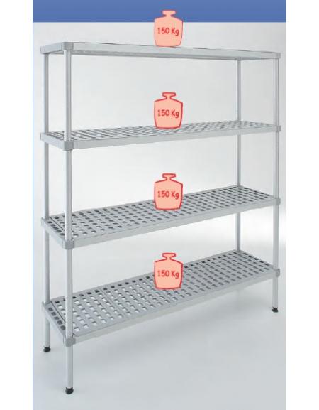 Scaffali X Magazzino.Scaffale In Alluminio Polietilene Per Cella Frigorifera O Magazzino Cm 100x50x200h