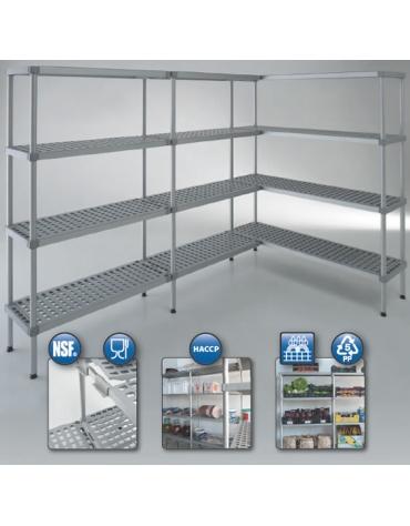 Scaffale in alluminio per cella frigorifera o magazzino cm 100x50x200h