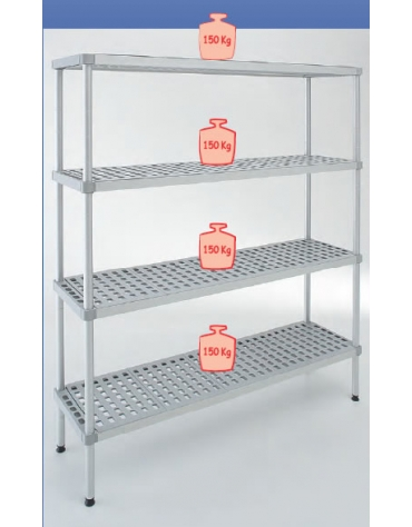 Scaffale per cella frigorifera o magazzino cm 140x50x200h