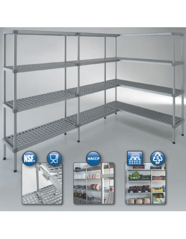 Scaffale per cella frigorifera o magazzino cm 190x60x180h