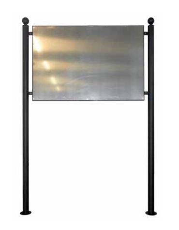 Bacheca Simple con pannello in alluminio 100x100 cm