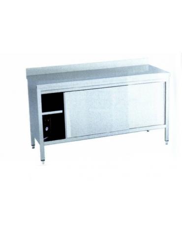 Tavolo armadiato caldo inox Dimensioni cm. 120x60x90h