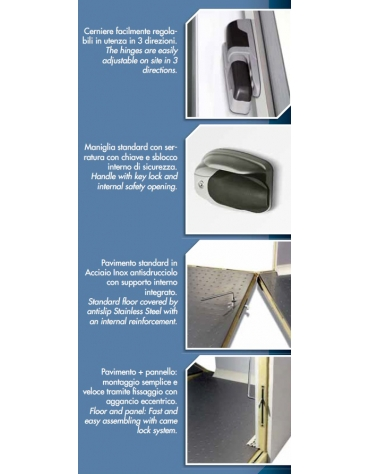 Cella frigorifera surgelati negativa congelatore cm 120x120x290h