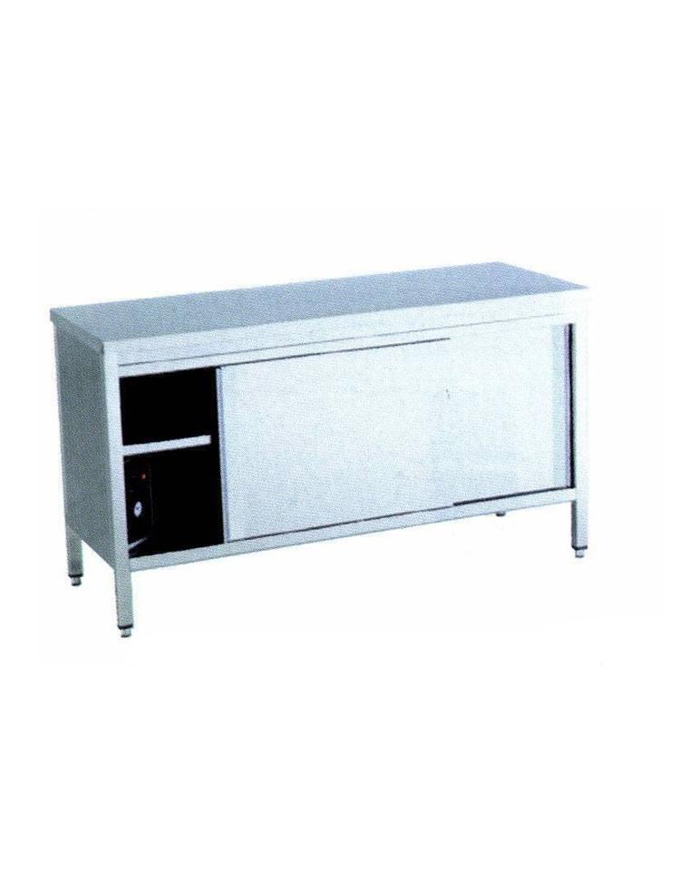 Tavolo armadiato caldo inox dimensioni cm 200x60x90h piano di lavoro senza alzatina - Tavolo profondita 60 cm ...