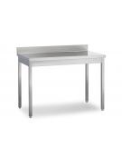 Tavolo inox aperto senza ripiano Dimensioni cm.130x70x85/90h