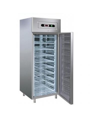 Armadio frigorifero inox per pasticceria -2° +8°C - N° 20 Teglie 60x40 - cm 74x99x201h