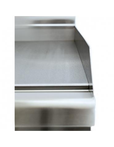 Fry Top singolo da banco elettrico trifase piastra liscia cromata - cm 30x60x28h