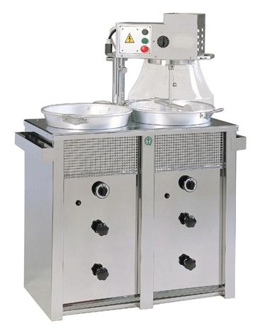 Mescolatore doppio da Kg.15+15 con distributore di farina