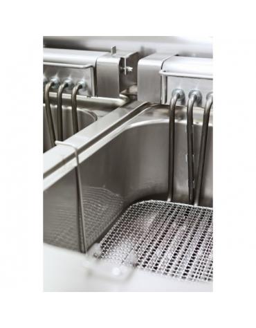 Friggitrice elettrica, 2 vasche capacità 10 lt.+10 lt. M.60/60