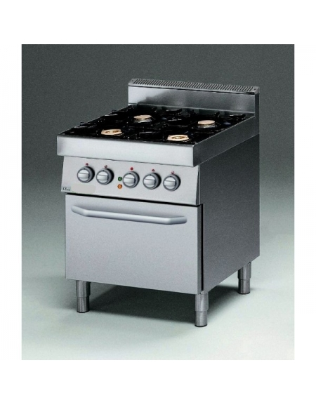 Cucina a gas 4 fuochi con forno elettrico e bacinelle in - Cucina con forno a gas ...