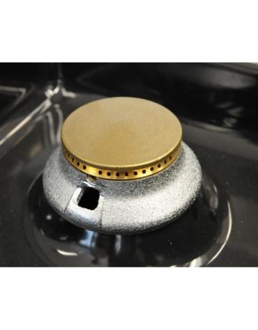 Piano di cottura a gas, 4 fuochi su armadio aperto cm 70x70x85h - Bacinelle in acciaio inox