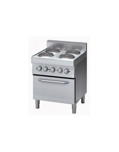 Cucina elettrica 4 piastre elettriche con forno elettrico - Cucine con piastre elettriche ...
