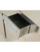 Fry Top a gas con piastra liscia cromata su armadio aperto - cm 40x70x85h