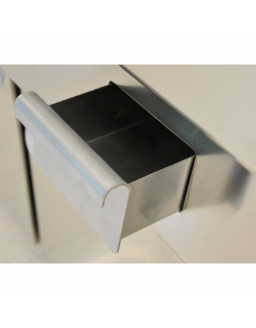 Fry Top elettrico con piastra rigata su armadio aperto m.70/40