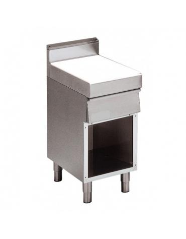 Elemento neutro con cassetto su armadio aperto m.70/40