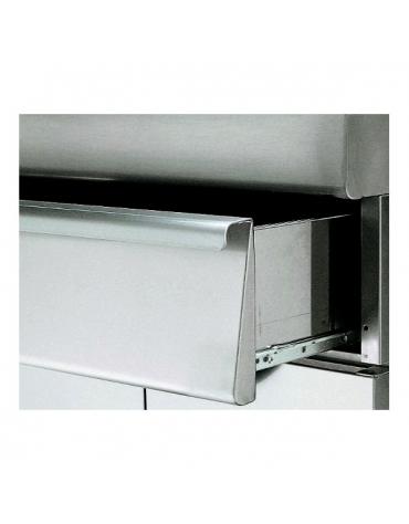 Elemento Neutro con cassetto su armadio aperto m.70/70