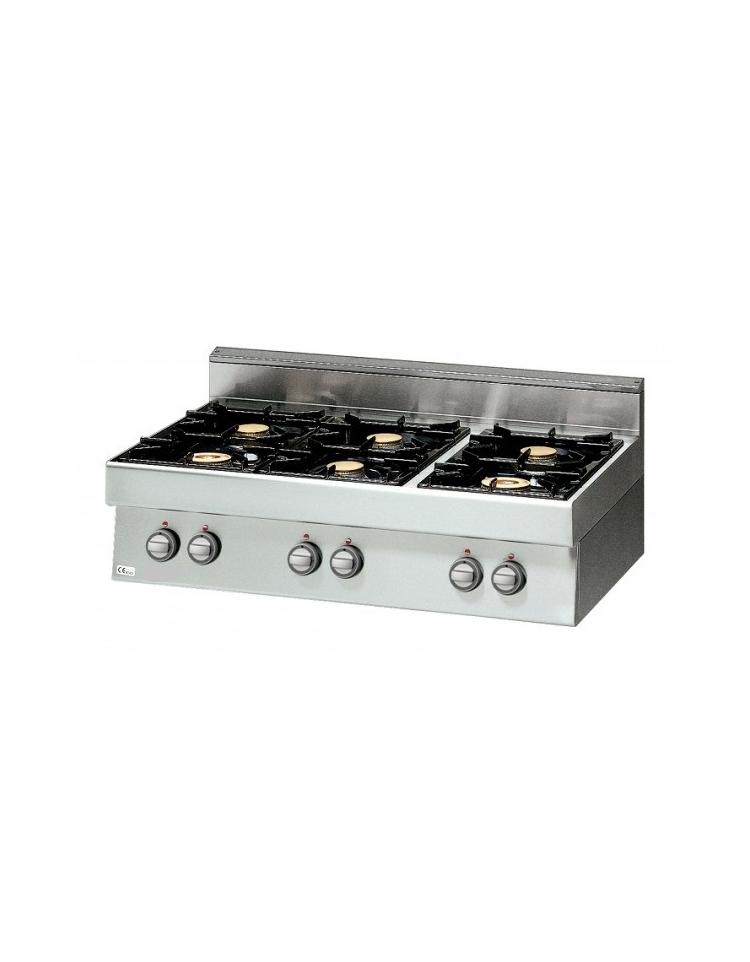 Cucina a gas da appoggio 2 fuochi media potenza - Cucina 6 fuochi ...