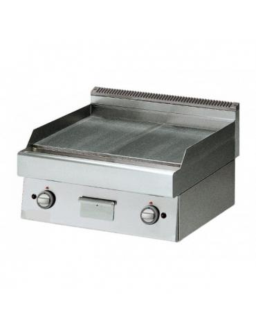Fry Top a gas con piastra liscia versione top da banco - cm 70x70x28h