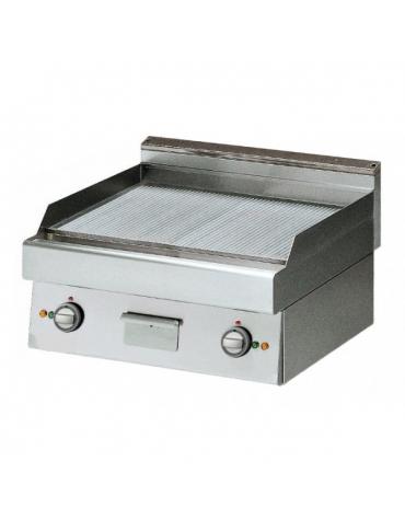 Fry Top elettrico con piastra rigata versione top m.70/70