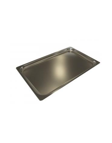 Teglia in acciaio inox per forno a gas GN 1/1 cm 53x32,5x4h