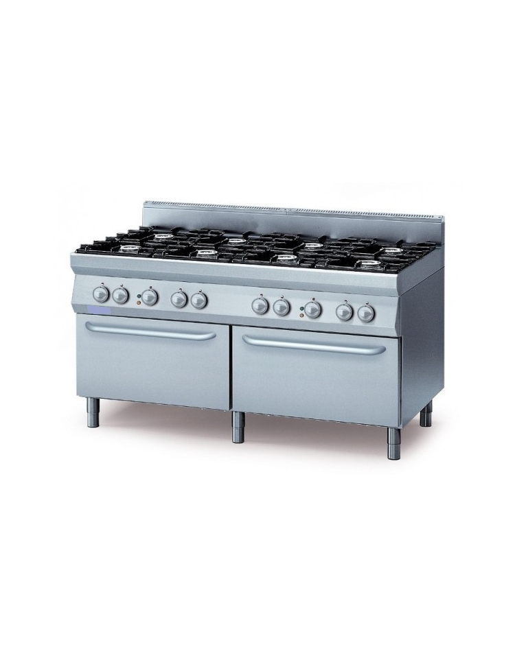 Cucina 6 fuochi 2 forni elettrici con pesciera cucina professionale fuochi la germania amn - Cucina economica elettrica ...