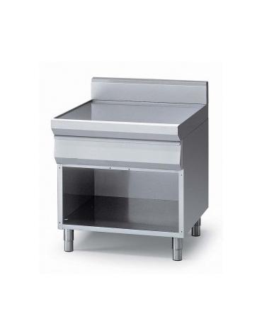 Elemento neutro con cassetto su armadio aperto m.90/80