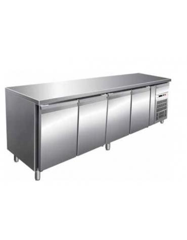 Tavolo refrigerato negativo 4 porte cm. 223x70x85h