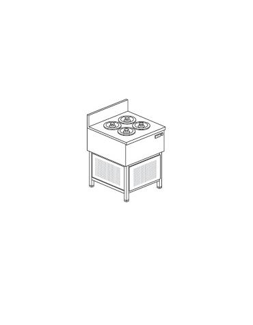 Banco gelati a pozzetto - N° 4 Carapine - Motore interno