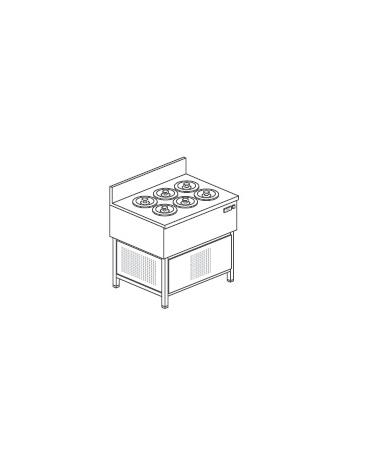 Banco gelati a pozzetto - N° 6 Carapine - Motore interno