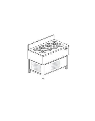 Banco gelati a pozzetto N° 8 Carapine - Motore interno