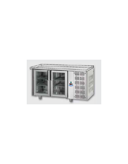 Piano Di Lavoro In Vetro : Tavolo refrigerato gn con porte in vetro una luce