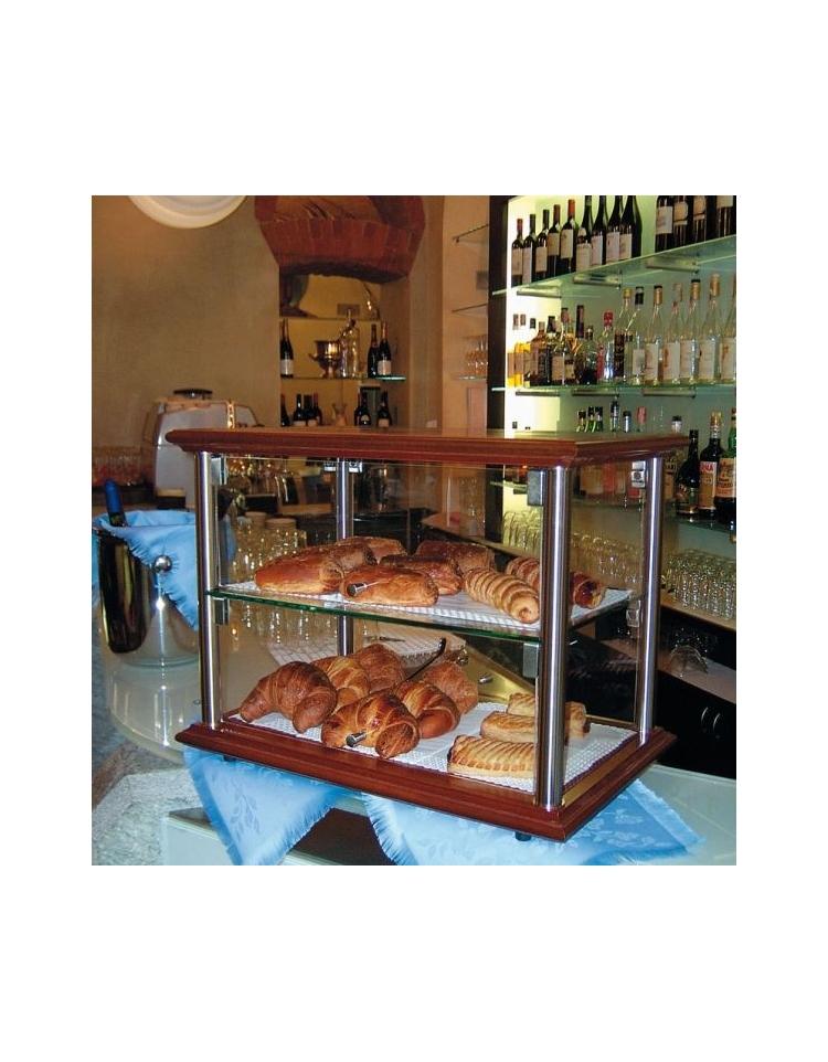 Vetrinetta riscaldata per colazioni da banco cm 74x35x36 for 2 piani per 2 box per auto
