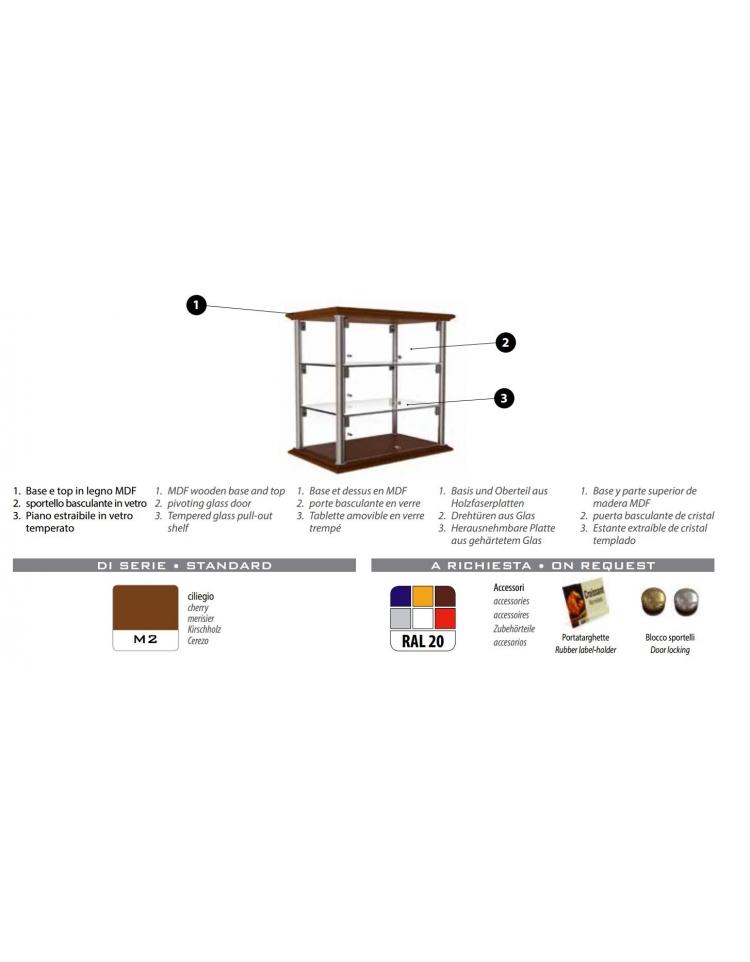 Vetrina neutra da banco per brioches cm 74x35x39h n 2 for 2 piani per 2 box per auto