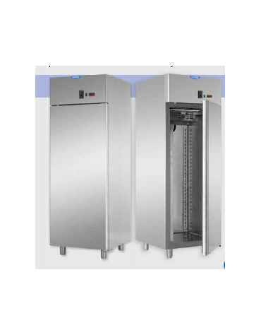 Armadio statico GN 2/1 in Acciaio Inox a temperatura normale con allestimento Carne cm 71x80x203h