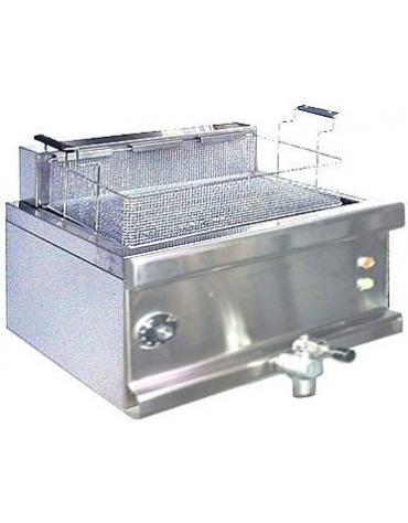 Friggitrice elettrica per pasticceria su mobile a giorno Litri 36 - cm 80x60x85/100h