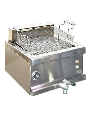 Friggitrice elettrica per pasticceria su mobile chiuso Litri 24 - Con cassetto raccolta olio estraibile - cm 60x60x85/100h