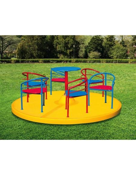 Giostra con poltroncine 6 posti giostre per bambini da - Giochi da esterno per bambini ...