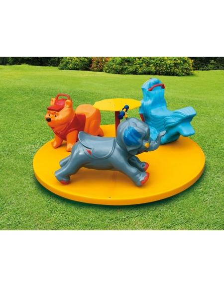 Giostra carosello in vetroresina giostre per bambini da - Giochi da esterno per bambini ...