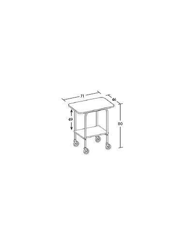 Carrello in legno 2 piani - ciliegio - Dimensioni  cm 71x46x80h
