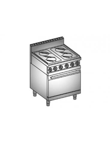 Cucina 4 Piastre vetroceramica + Forno elettrico